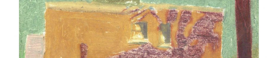 Across Talbot St, June 30, 1982, pencil and pastel on paper, 21.5 x 27.9 cm