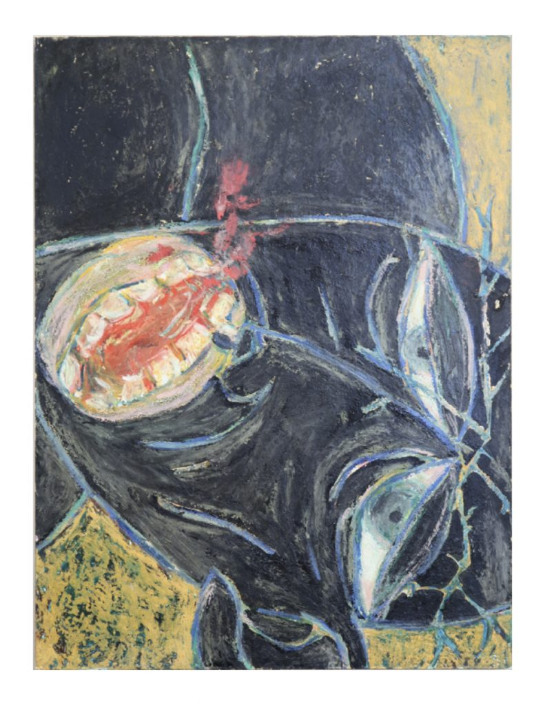 Black prophet face (14), April 1977, oil pastel and gouache on board, 22. x 30.5 cm