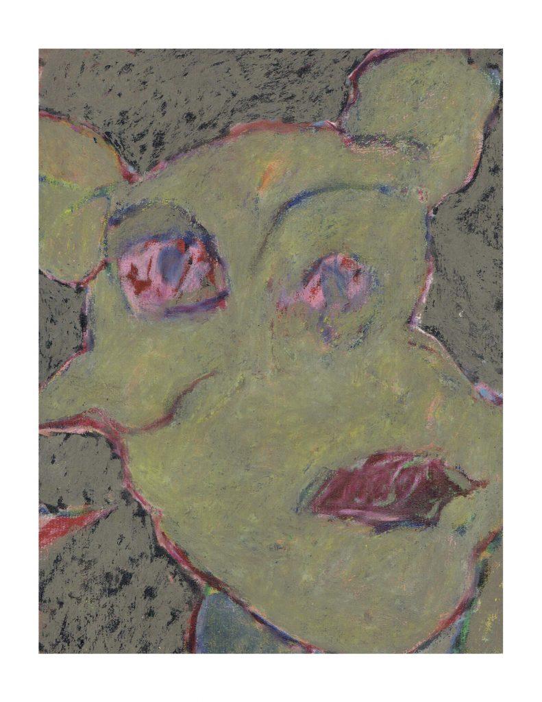 Dreamer (3), Feb 6 & May 1977, pastel on paper, 22.8 x 30.4 cm