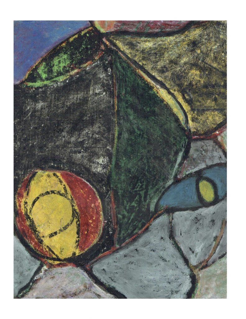 Masked face (8), Feb 22, 1978, pastel on paper, 22.8 x 30.4 cm