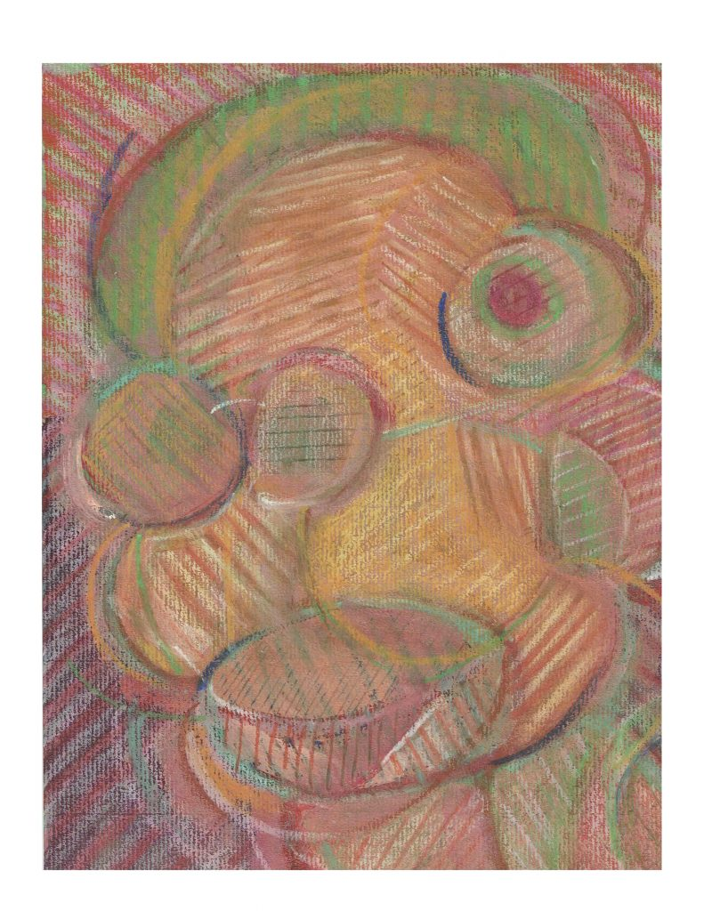 Orange yellow face (15), Feb 25, 1978, pastel on paper, 22.8 x 30.4 cm