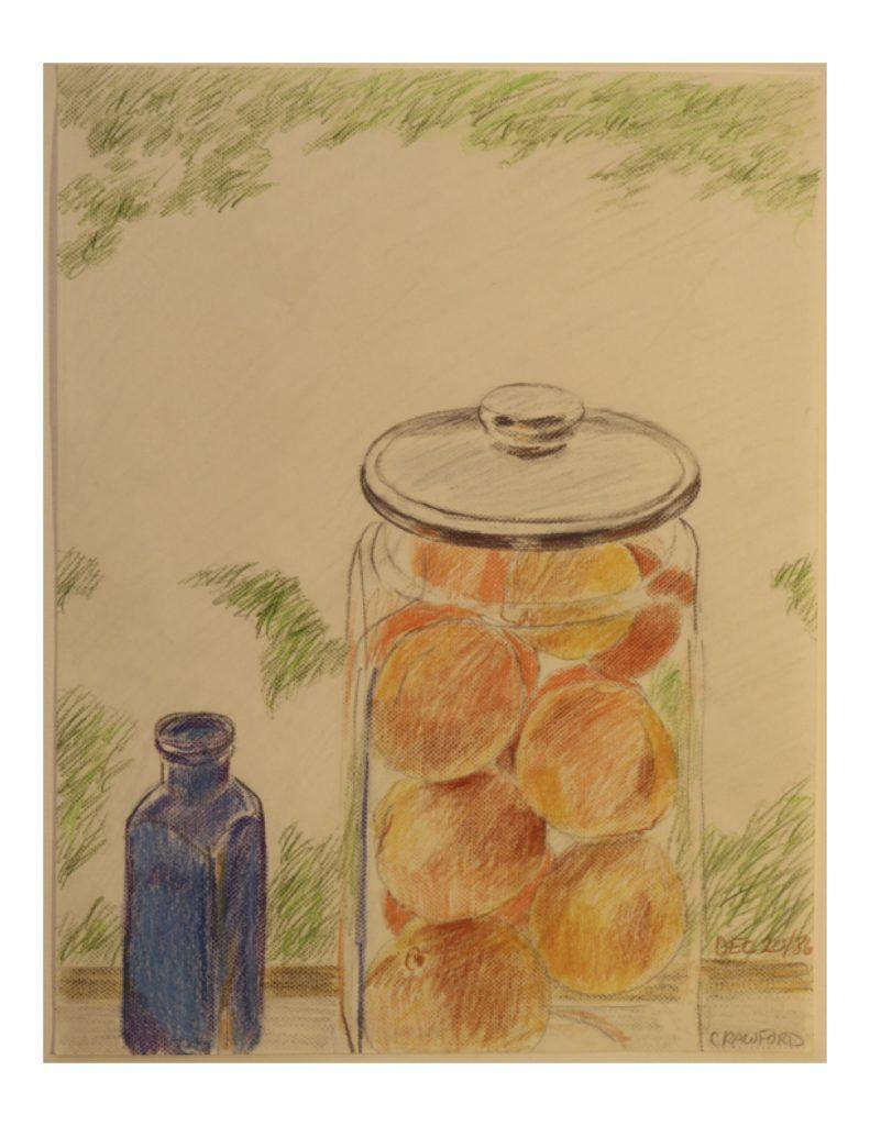 Oranges and tangerines, Dec 20, 1986, pencil on paper, 21.6 cm x 27.9 cm
