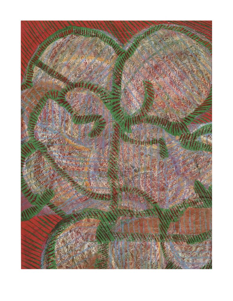 Out of control face (14), Feb 24, 1978, pastel on paper with varathane, 22.8 x 30.4 cm