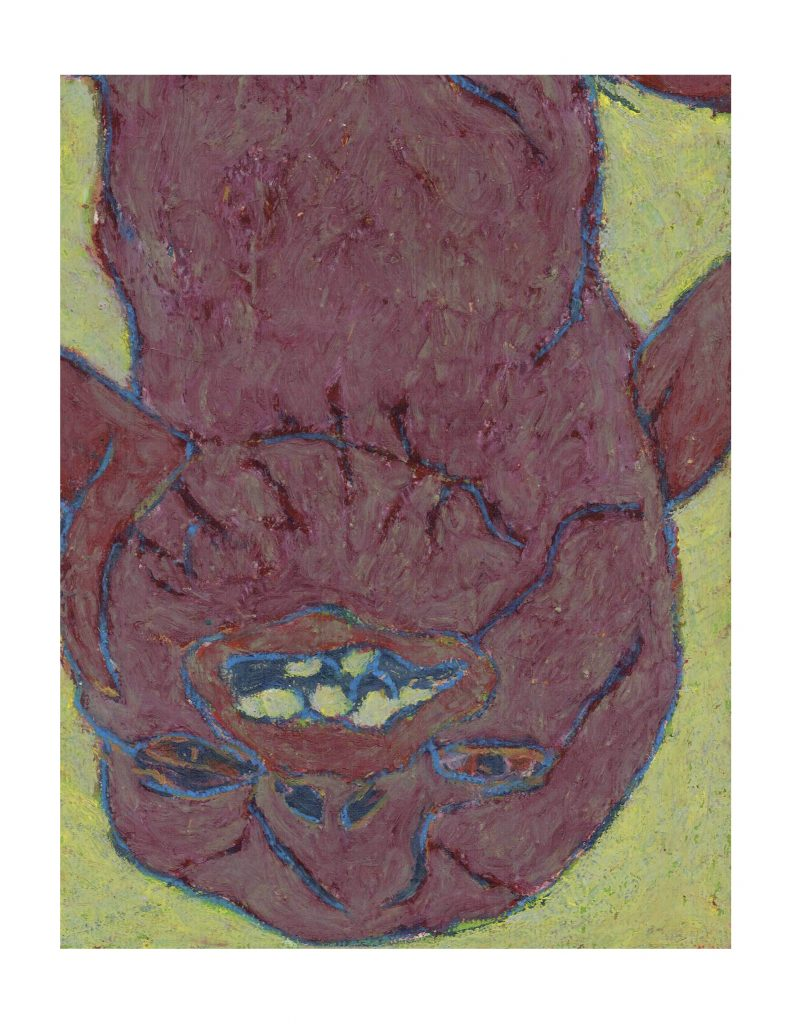 Purple face (16), March 10,1978, pastel on paper, 22.8 x 30.4 cm