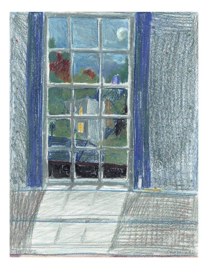 Rear yards off Talbot St, June 6, 1982, pencil on paper, 21.6 cm x 27.8 cm