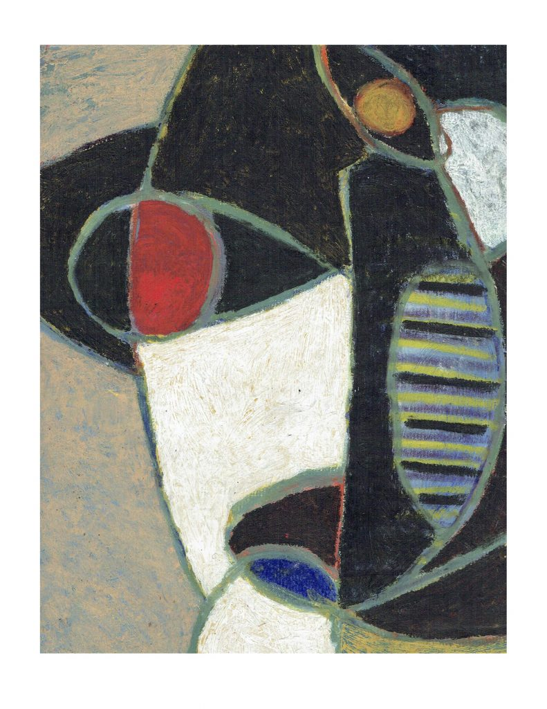 Red eye face (7), Feb 22, 1978, pastel on paper, 22.8 x 30.4 cm