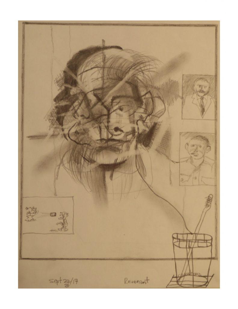 Revenant study, Sept 24, 2017, pencil on paper, 21.5 cm x 28 cm