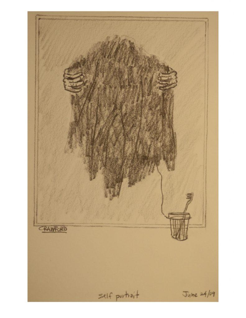 Self Portrait, June 24, 2009, pencil on paper, 21.5 cm x 28 cm