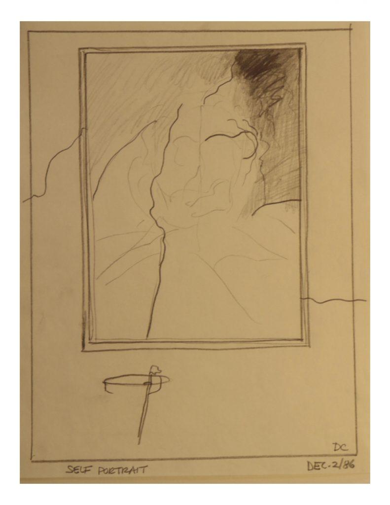 Self portrait, Dec 2, 1986, pencil on paper, 21.5 cm x 28 cm
