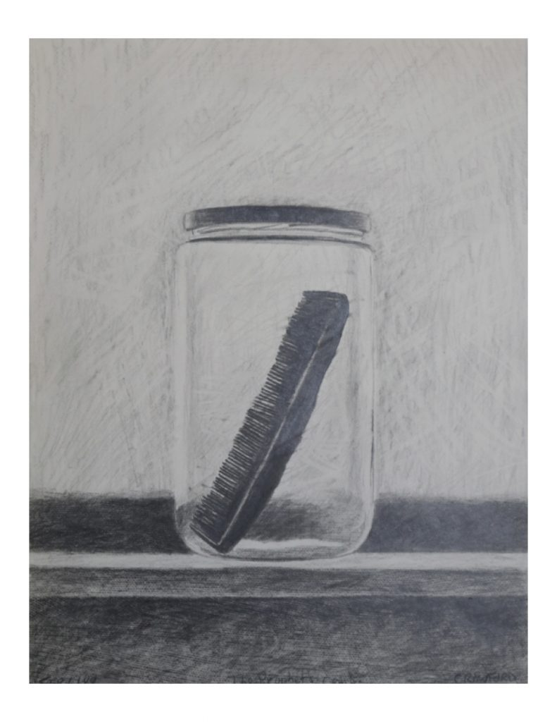 The prophet's comb,Feb 6, 1989, pencil on paper, 21.6 x 27.9 cm