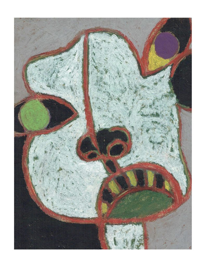 White face (10), Feb 22, 1978, pastel on paper, 22.8 x 30.4 cm