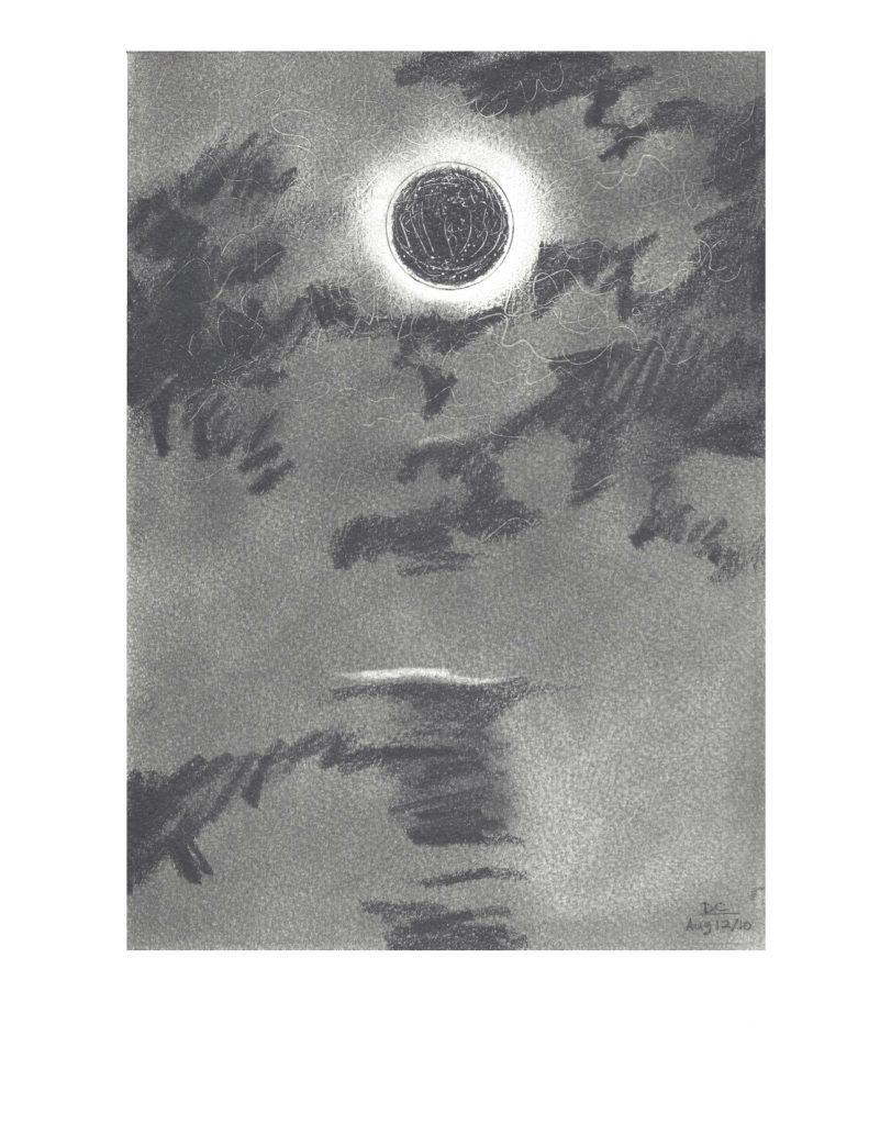 Eclipse, Aug 12, 2010, drawing, 21.5 x 27.9 cm