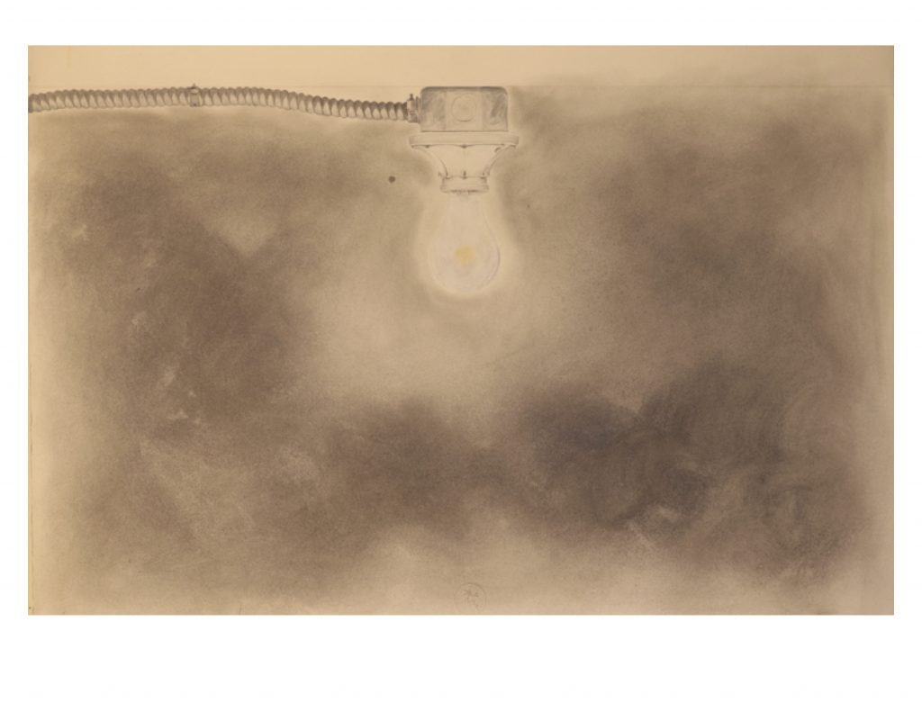 Basement light, 1981, drawing