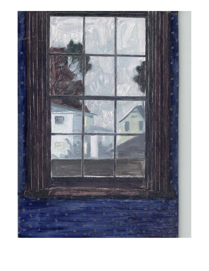 Talbot Street window, 1981, acrylic on masonite