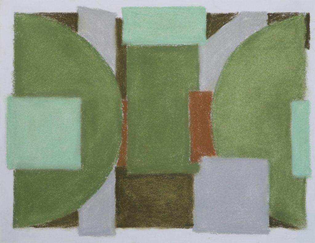 Four Seasons June light, June17, 2016, pastel on paper, 21.5 x 27.9 cm