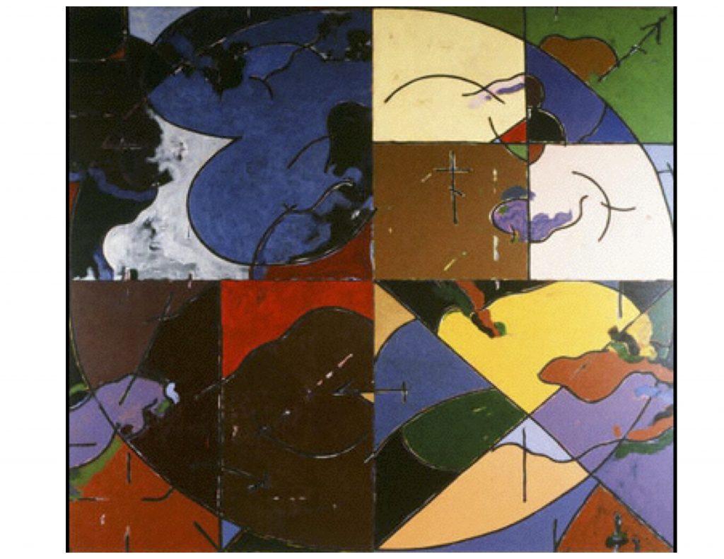 The Four Seasons, Jan 1979, acrylic painting, 4 panels, each 152 cm x 152 cm
