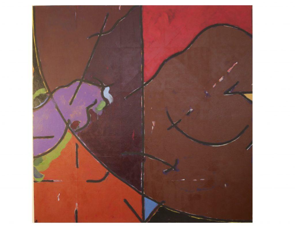The four seasons - autumn, Jan 1979, acrylic on canvas, 152 cm x 152 cm