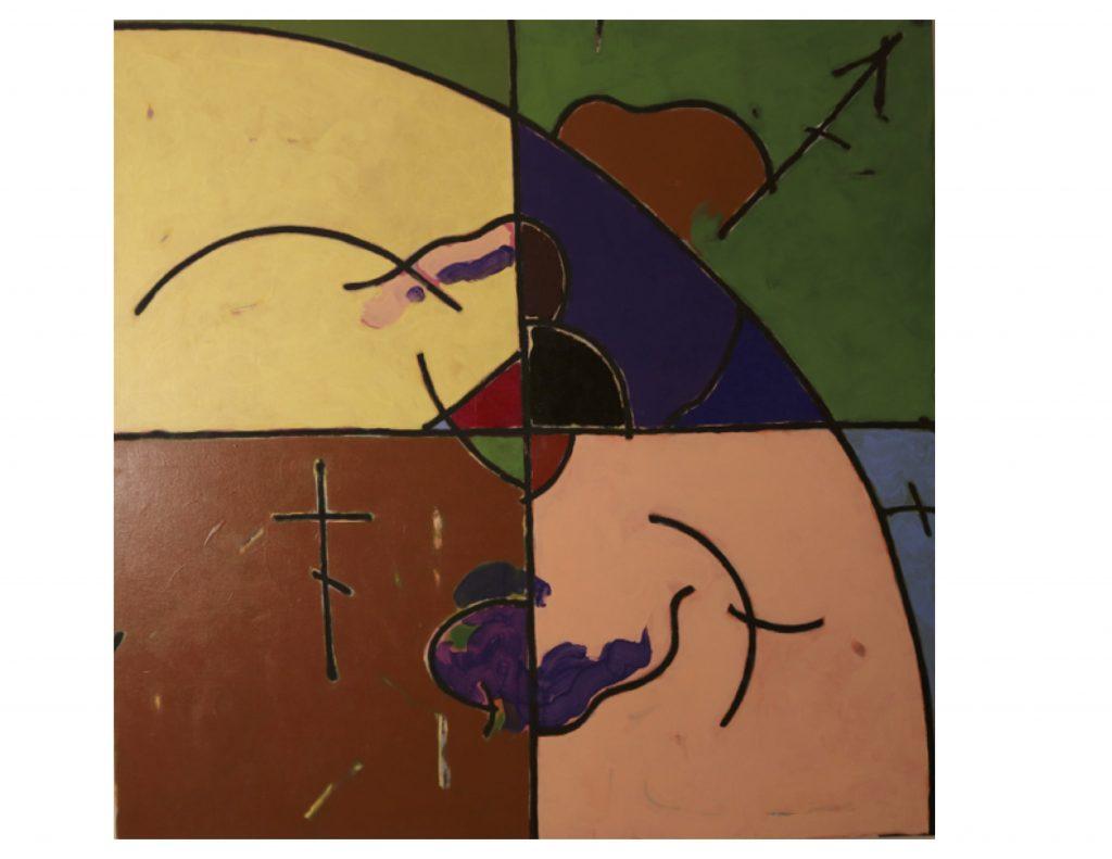 The four seasons - spring, Jan 1979, acrylic on canvas, 152cm x 152 cm