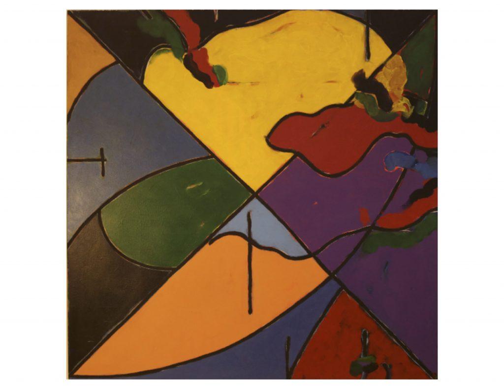 The four seasons - summer, Jan 1979, acrylic on canvas, 152 cm x 152 cm