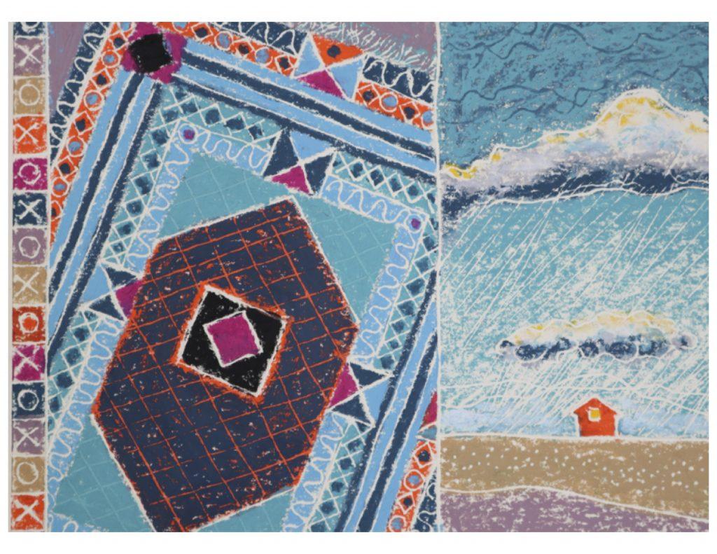 Summer showers detail upper left