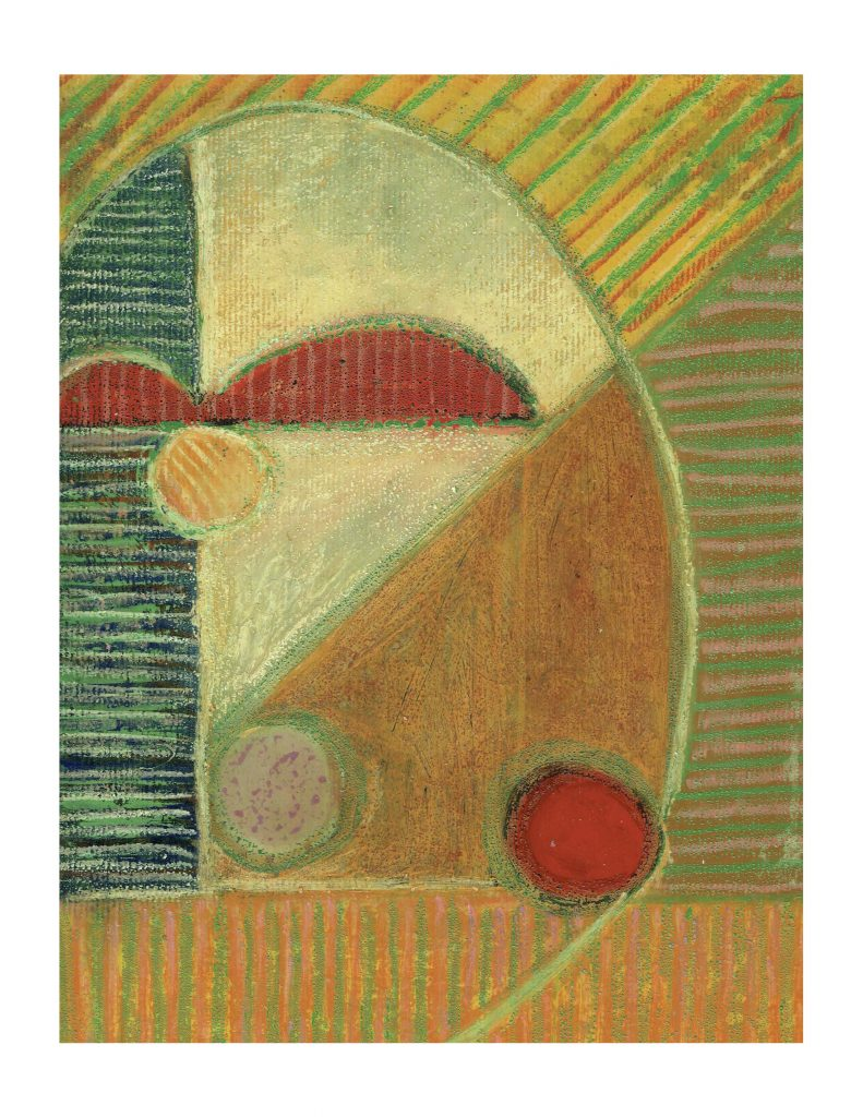 Lost (1), Feb 15, 1977, pastel on paper and varathane, 22.8 x 30.4 cm