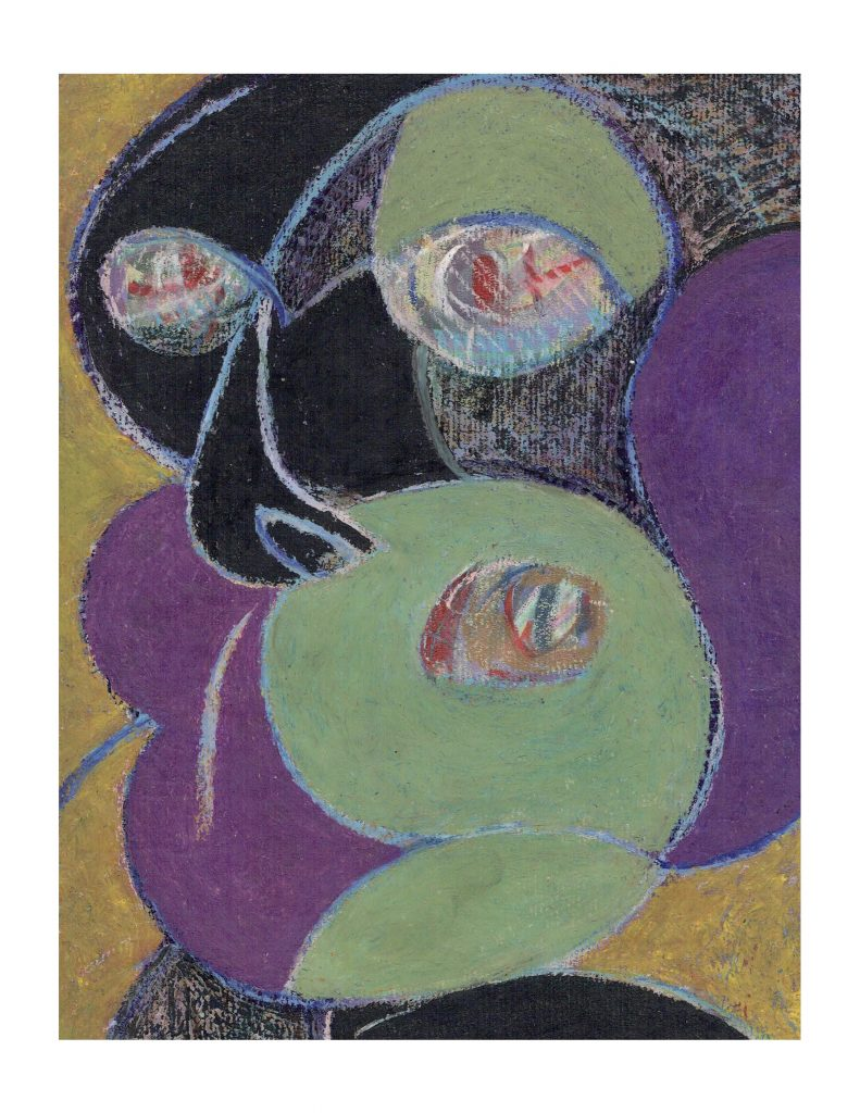 Purple green face (2), Feb 15, 1977, 22.8 x 30.4 cm